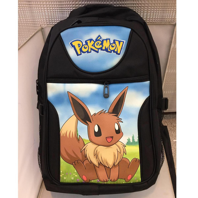 fb1ae2775b3d Anime Pikachu Adorabe Eevee Laptop Black Backpack/Double  Shoulder/School/Travel Bag for Teenagers or Animation Enthusiasts-in  Backpacks from Luggage & ...