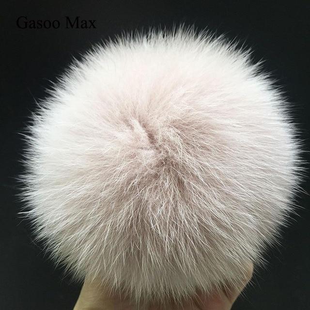 Super Grande 14-15 cm coloridos pompons bolas De Pêlo de luxo de pele de Raposa Ártica para malha de lã cap chapéu de inverno gorros pompons pele real