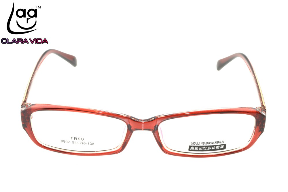 5920db585fb TR90 Ultra Light Red Pattern Womens Designer Glasses Frame Custom ...