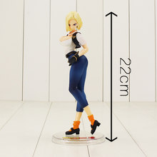 Anime Sexy Filles Dragon Ball Z Android 18 Pvc Figurine Lazuli Collection Modèle Jouets(China)