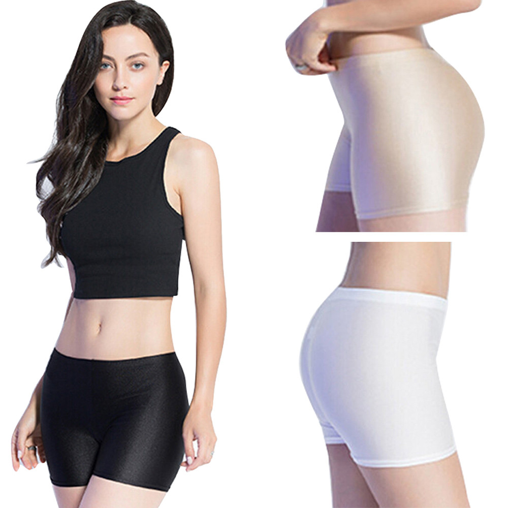 Fashion Women Flat Tiered Short Pants Under Safety Pants Underwear shorts Ultra-thin Seamless Sexy safety short pants