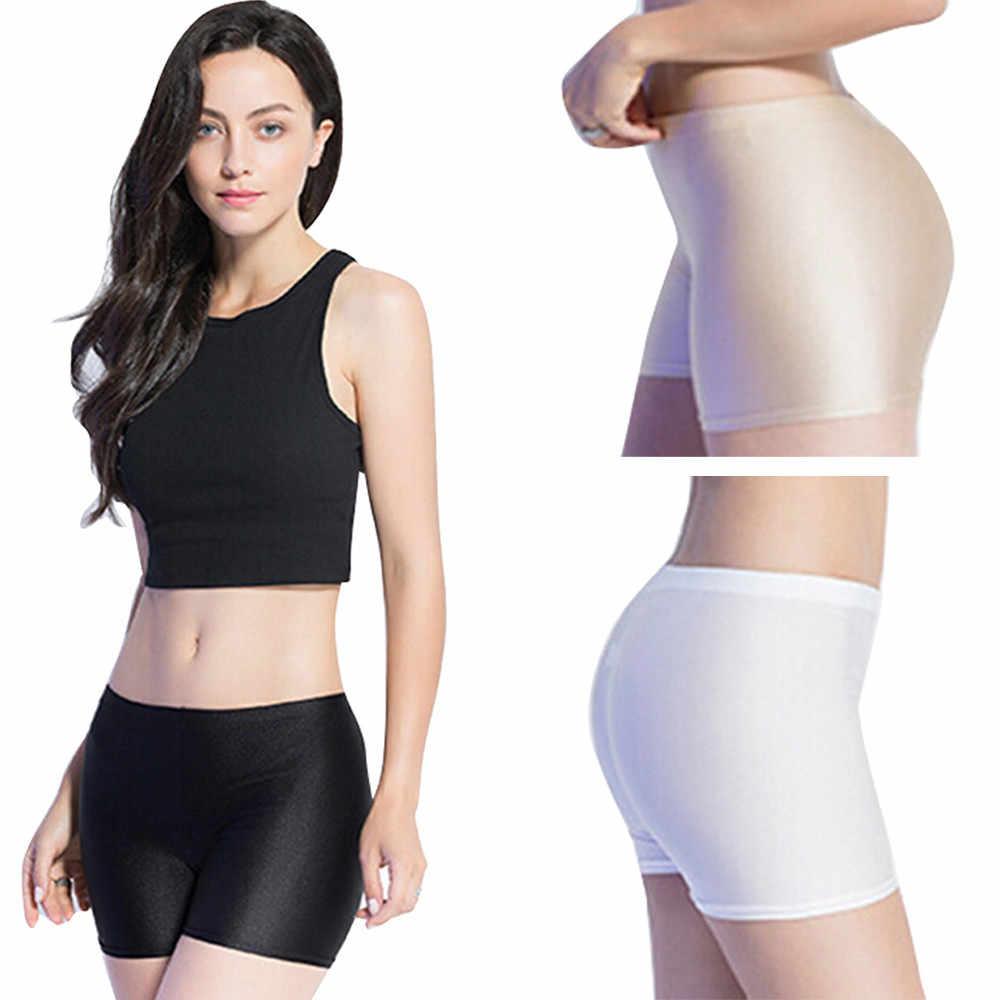 Moda Kadınlar Düz Katmanlı kısa pantolon Altında Güvenlik Pantolon Iç Çamaşırı şort Ultra-thin Dikişsiz Seksi güvenlik kısa pantolon