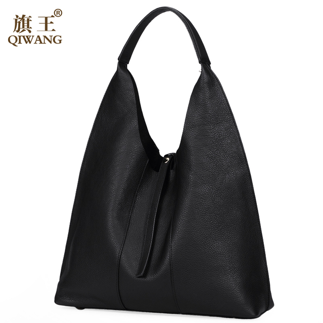 Hot S Women Genuine Leather Hobo Bag Female Real Handbag Luxury Woman Office Fashion