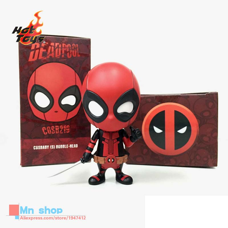 HOTTOYS HT COSBABY Mini Q Edition Deadpool Figure Cosplay Anime Action Figure Juguetes Model Hot Kids Toys 10cm Free Shipping patrulla canina with shield brinquedos 6pcs set 6cm patrulha canina patrol puppy dog pvc action figures juguetes kids hot toys