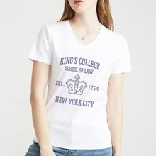HAMILTON BROADWAY MUSICAL King's College School of Law Est. 1754 Greatest 3D Print Brand Women V-neck T-Shirt 0355 Drop Shipping