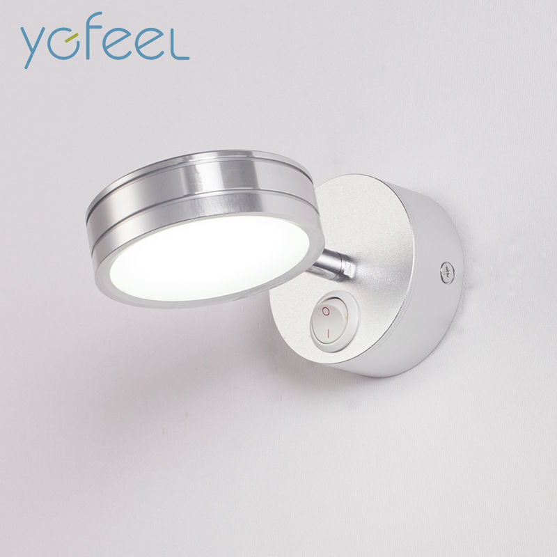 YGFEEL 5W LED Wall Lamps With Switch Bedroom Bedside Lamp Reading Light Corridor Stair Lighting
