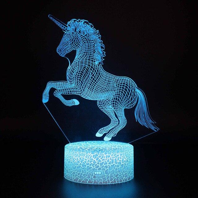 Veilleuse led licorne bleu