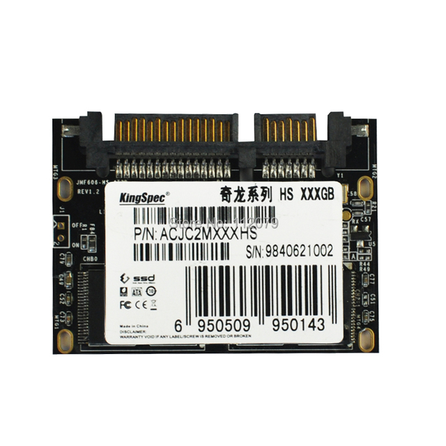 """Nueva kingspec 1.8 """"SATAIII SATA3 SSD 64 GB Medio Delgado (ACJC2M064HS) Unidad de Estado sólido PARA Médicos POS Industrial Tablet PC"""