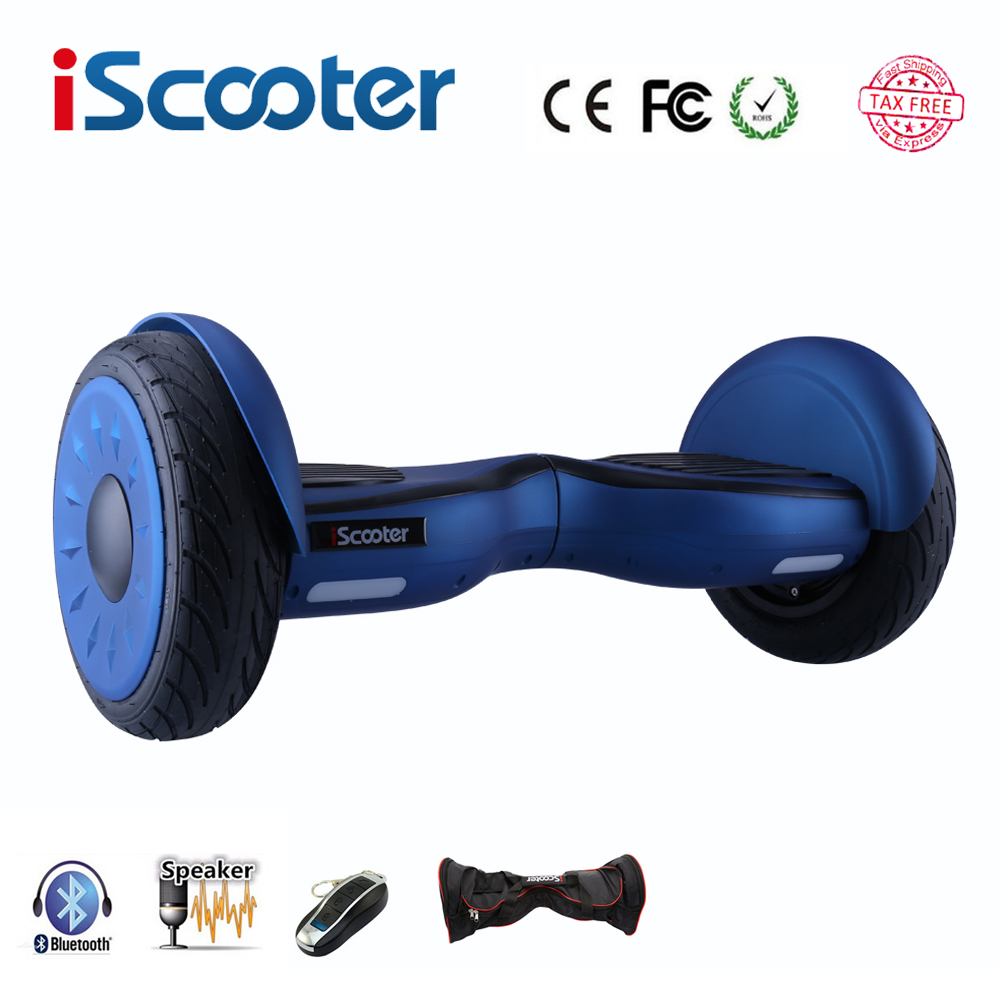 iScooter hoverboard 10 inch bluetooth two wheel smart self balancing scooter electric skateboard with speaker giroskuter UL2722 new rooder hoverboard scooter single wheel electric skateboard