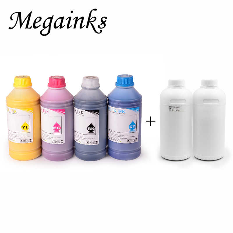 6*500 Ml Digital Tinta Tekstil untuk Roland Mimaki Mutoh DX3 DX4 DX5 DX6 DX7 Kepala A2 A3 A4 DTG Flatbed Printer BK Putih Pretreatment