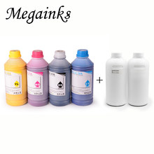 6*500 Ml Digital Tinta Tekstil untuk Roland Mimaki Mutoh DX3 DX4 DX5 DX6 DX7 Kepala A2 A3 A4 DTG Flatbed Printer BK Putih Pretreatment(China)