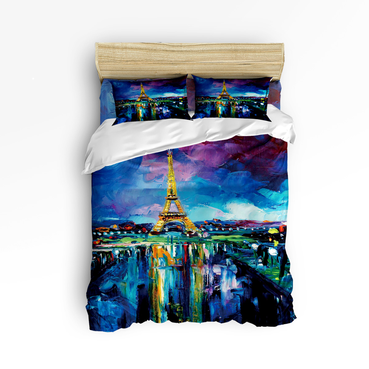 Arts Oil Painting Paris Tower 3 Pcs 4 Pcs Bedding Set Home Decor Duvet Cover Set Comforter Bedding Sets Adult Kids Free ShippingArts Oil Painting Paris Tower 3 Pcs 4 Pcs Bedding Set Home Decor Duvet Cover Set Comforter Bedding Sets Adult Kids Free Shipping