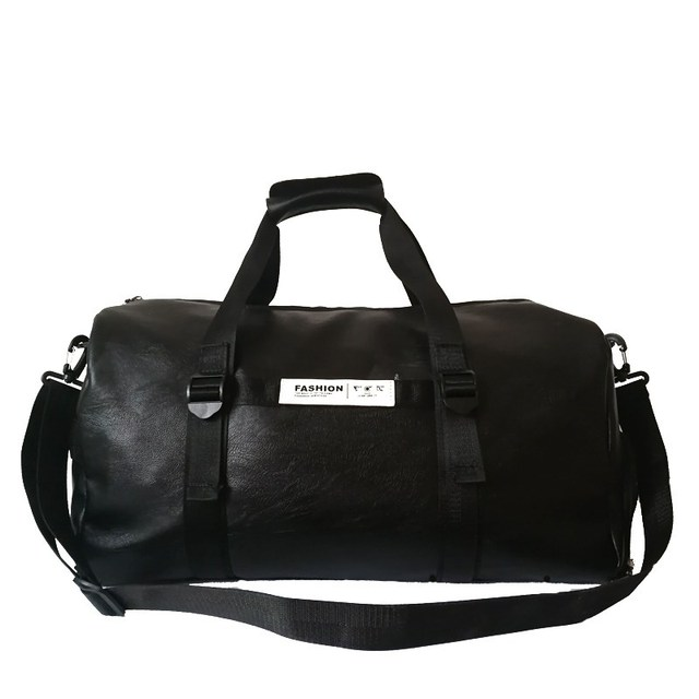 6dd817607e28 Top PU Leather Outdoor Shoulder Sports Gym Bag Men Women with Shoes Storage  Training Fitness Travel