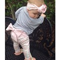 Новый малыш мальчиков / девочек PP штаны малыша в девушки вязание мультфильм леггинсы diy большой бант свободного покроя брюки