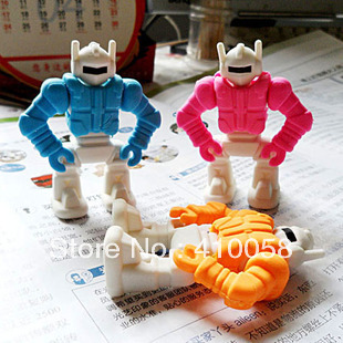 Korea Stationery Armored  Rubber Robot Eraser Primary School Students Freeshipping Service
