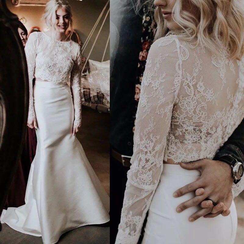 Long Sleeve Custom Made Lace Wedding Shawl Bolero Bridal
