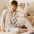 Male long section of thick flannel nightgown winter men coral velvet autumn bathrobe tracksuit pajamas