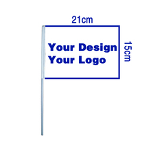 Johnin 15x21cm 20x30cm personalizzato personalizza stampa palmare della mano Bandiera banner