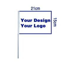 Johnin 15x21cm 20x30cm מותאם אישית אישית הדפסת כף יד יד דגל באנר
