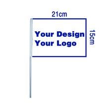 O costume de johnin 15x21cm 20x30cm personaliza a bandeira handheld da mão da cópia