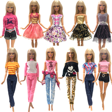 NK Новая Одежда для кукол вечерние платья для кукол ручной работы модная одежда платье для куклы Барби подарок для детей DIY игрушки смешанный стиль 025A JJ
