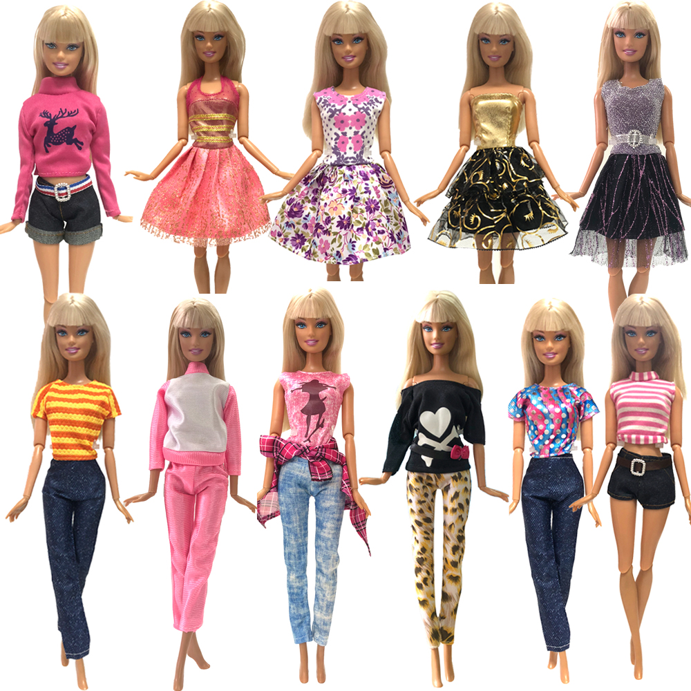 NK 2019 New Doll Clothes Handmade Party Doll's Dress Fashion Clothes Gown For Barbie Doll Baby Gift DIY Toys Mix Style 025A JJ