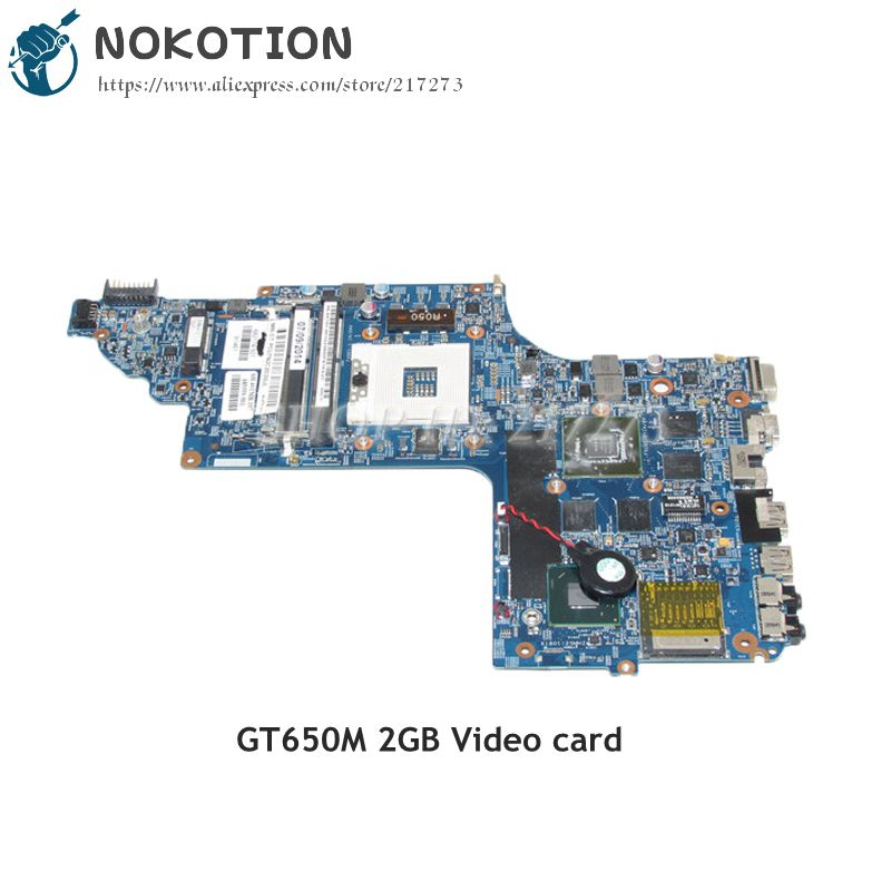 NOKOTION 682174-501 682174-001 48.4ST06.021 PC Motherboard For HP pavilion DV6 DV6-7000 MAIN BOARD HM77 GT650M 2GB Video Card 712082 001 710988 501 710988 001 hm77 635m 2g non intergrated motherboard system board for hp envy dv6 dv6 7000 dv6t