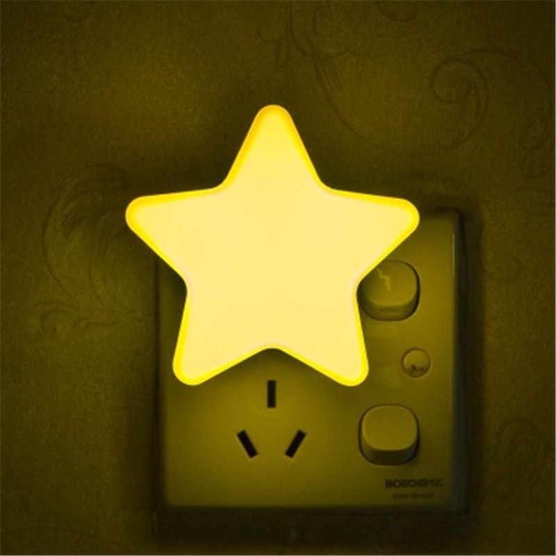Mini Star Night Light Light Sensor Control Children S Night Lamp Eu Us Plug Wall Lights Bedroom Bedside Backlight Sleeping Light Aliexpress
