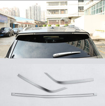 ABS Chrome Car Exterior Tail Rear Spoiler Wing Cover Trim Sticker For Land Rover Discovery Sport 2015- 2017 Car Styling 3Pcs/set цена в Москве и Питере