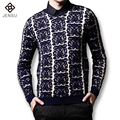 2016 New Men Knitwear Men's Casual Fashion Slim Fit Large Size Long Sleeved V Neck Sweaters and Pullovers Men Outwear Male Coat