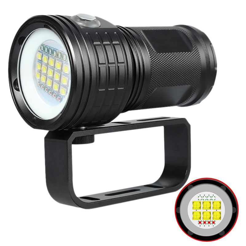 500W Professional Photography Fill Light Diving Flashlight Red Blue Light Glare High Power Underwater 80 Meters Ipx8500W Professional Photography Fill Light Diving Flashlight Red Blue Light Glare High Power Underwater 80 Meters Ipx8