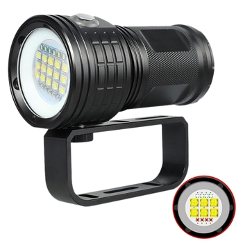 500W Professional Photography Fill Light Diving Flashlight Red Blue Light Glare High Power Underwater 80 Meters Ipx8