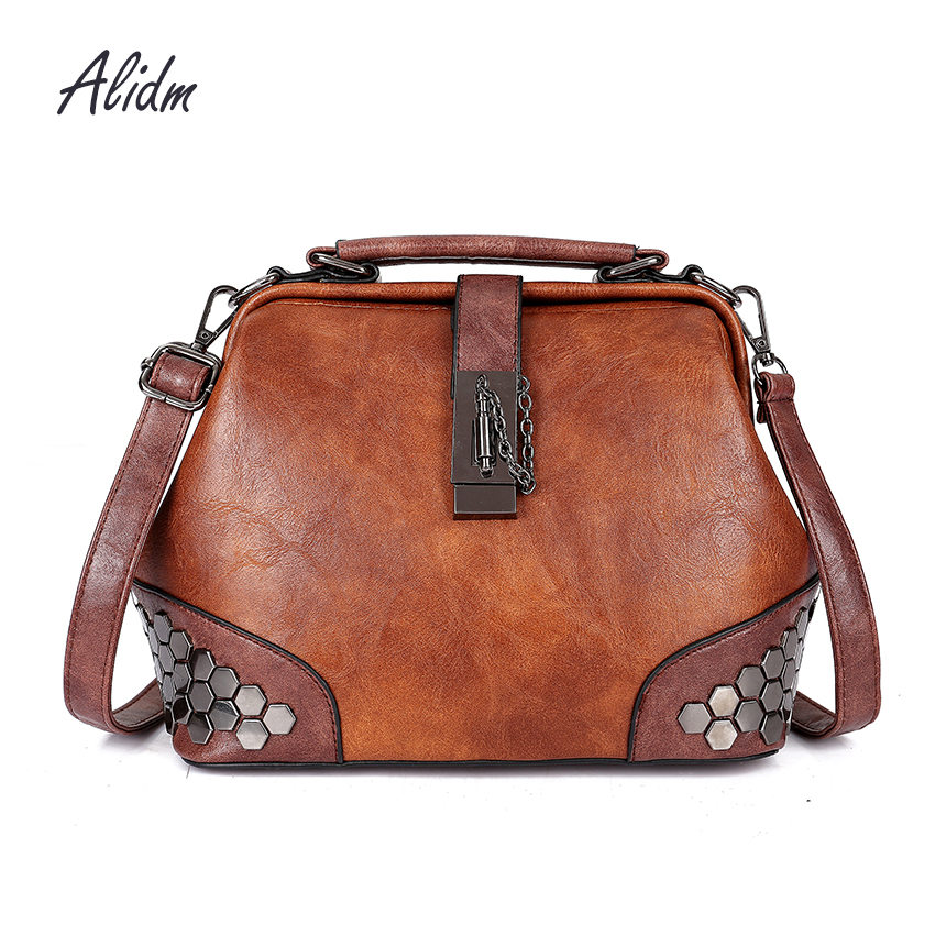 Vintage Women Shoulder Bags For Women Tote Bag Ladies Hand Bags Designer High Quality Leather Handbag Famous Brand 2018 Fashion