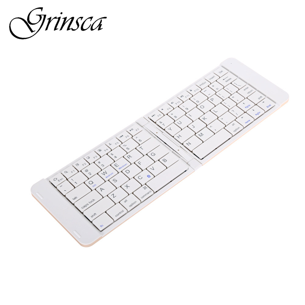 Hot Sale B023 Ultra Light Mini Bluetooth Folding Keyboard Touchpad with Two Layers Dec27