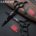 Alta calidad de japón Kasho tijeras 5.5 pulgadas 6 pulgadas de pelo profesional zurdos tijeras de peluquero tijeras de corte de peluquería herramientas
