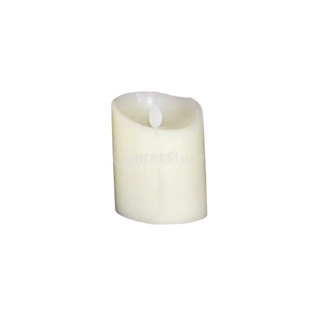 Romantic Electronic LED Flameless Swing Flickering Candle Light 7.5x10cm