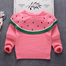 Baby Girls Sweater 2018 Autumn High Quality Kids Warm Knitwear Sweaters for Girls Toddler Pullover Children Clothes Boys Top children clothes high quality baby girls boys pullovers turtleneck sweaters autumn winter warm cartoon clothes wear kids sweater