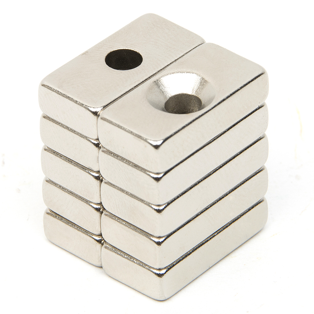 10pcs Hole Block Rare Earth Neodymium Magnet Rectangular Magnet Strong Block Cuboid Permanent Neodymium Magnets Magnet N52 80x60x7 block magnet 80x60x17mm with hole magnet n48 magnet permanet block powerfull magnet free shipping