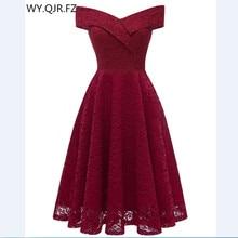 Cd1610j # vestidos de noiva, curto de renda borgonha, vestido de dama de honra, baile, roupa de casamento