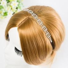 New Fashion Rhinestone Do Parafuso Prisioneiro Accent Faixa de Cabelo Headband Headpiece Nupcial Prom Festival Dançarina Y1237