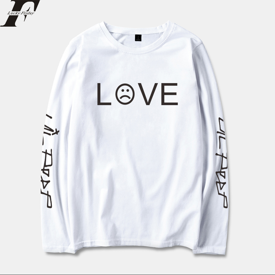LUCKYFRIDAYF 2018 Lil Peep R.I.P. Long Sleeve T Shirt Men/Women Cotton Spring Fashion Casual Streetwear Hip Hop
