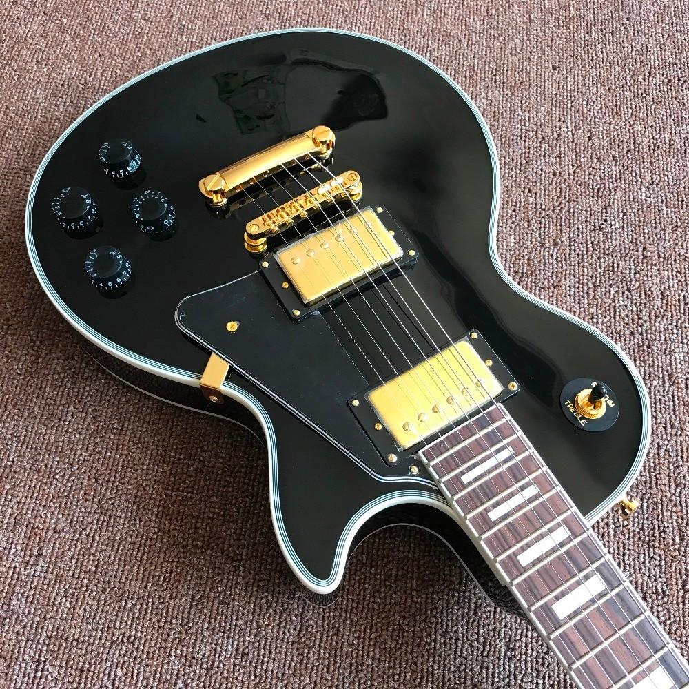 Guitar Recording Video Appreciation Custom Mahogany Black Lpcustom Electric Guitar Gold Hardware Some Where Free Shipping