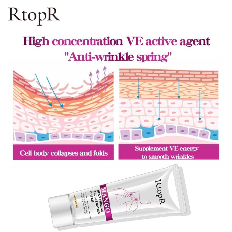 RtopR Neck Firming Rejuvenation Cream Anti-wrinkle Firming Skin Whitening Moisturizing Neck Serum Mild Peeling Beauty Neck Care 4