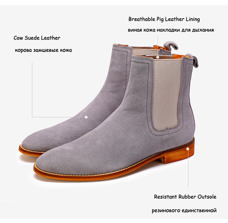 Men's Boots Casual Men Shoes Winter Mid-Calf Chelsea Boots Men Boot Genuine Leather Ankle Autumn Men Winter Boots Big Size 45-48 (2)
