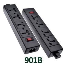 ห้องปฏิบัติการแหล่งจ่ายไฟ Strip Overload Protector ,PDU พร้อมความปลอดภัยชัตเตอร์ Universal Outlet ขยายด้วย IEC320 C13 Outlet