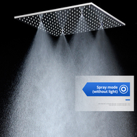 Ceiling Mounted 2 Functions Shower Head Big Rain, SPA Mist Spray Shower 304 Stainless Steel Polished with 4 shower arms