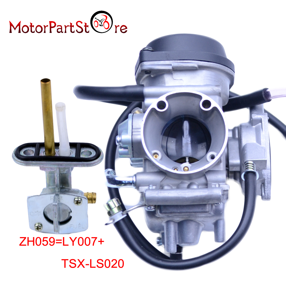 35mm carburetor with fuel valve petcock for quad atv kfx 400 kfx400 2003 2007 utv ltz 400 ltz400 raptor 400 d10 [ 1000 x 1000 Pixel ]