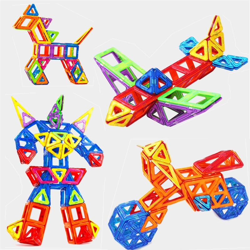 Set Standard Size Magnetic Designer Toy Kids Educational Toys ABS Plastic Creative Bricks Enlighten Magnetic Building Blocks 62pcs set magnetic building block 3d blocks diy kids toys educational model building kits magnetic bricks toy