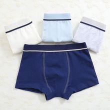4 шт./лот, одежда, боксеры, модальное нижнее белье, детские штаны с рисунком, хлопковое нижнее белье для мальчиков