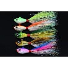 Tigofly 5 pcs/lot 5 colors 14g 28g 56g Lead Head Bucktail Fi